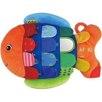 Peixe Flippo da K's Kids, estimula o pensamento e a sensibilidade do bebê