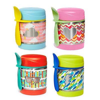 Pote térmico Forget me not, Skip Hop Kids, capacidade para 325ml (acompanha 1 colher garfo)