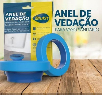 Anel de Vedação Blukit com guia para bacia sanitária