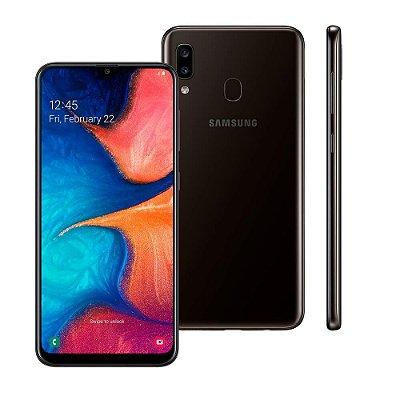 """Smartphone Samsung Galaxy A20, Preto, A205G, 6,4"""", 32GB, 13MP+5MP"""