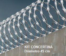 01 KIT fácil | CONCERTINA ESPIRAL 45 cm  | Conteúdo 10 m