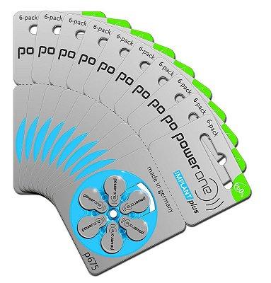 60 Pilhas Baterias P675 Pr44 Implant Plus - Implante Coclear