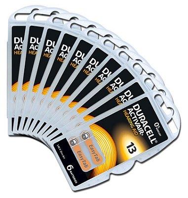 60 Baterias Aparelho Auditivo DA13 / Pr48 - Duracell