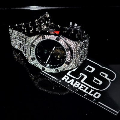 Relógio Techno Pave 'Iced Out' Silver
