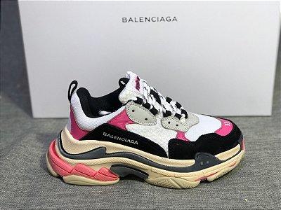 """Tênis Balenciaga Triple S """"Pink/White"""" - ENCOMENDA"""