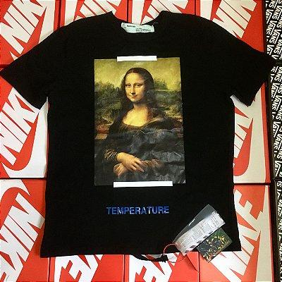 """Camiseta Off-White """"Mona Lisa"""" - Preta"""