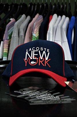 Boné Lacoste New York Azul/Vermelho