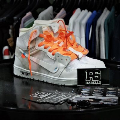 Nike Air Jordan 1 x 'Off-White' Branco - Pronta Entrega