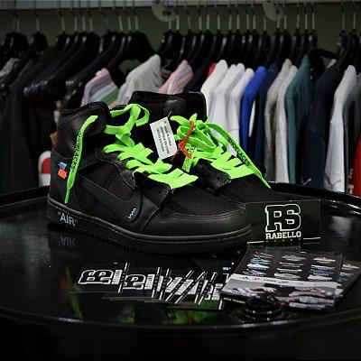 Nike Air Jordan 1 x 'Off-White' Preto - Pronta Entrega