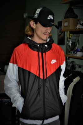 Jaqueta Corta Vento Nike Red/Black