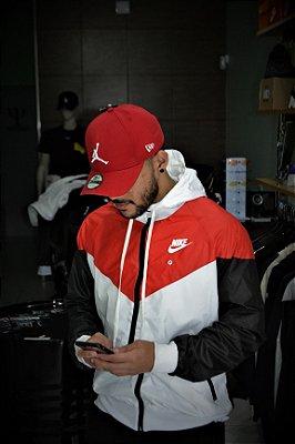 Jaqueta Corta Vento Nike White/Red
