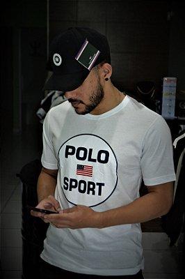 Camiseta Polo Ralph Lauren 'Sport' - Branco