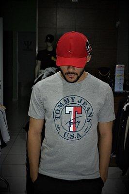 Camiseta Tommy Hilfiger Jeans - Cinza