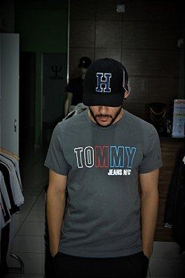 Camiseta Tommy Hilfige Jeans NYC - Grafite