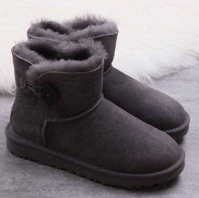UGG Mini Bailey Button II 'Gray' - ENCOMENDA