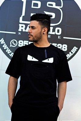 Camiseta Fendi 'Bag Bugs' Preta