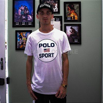 "Camiseta Polo Ralph Lauren "" Sport "" - Branco"