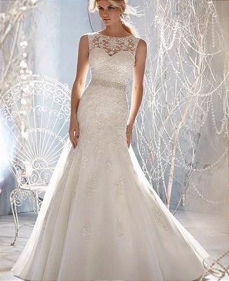 Vestido de noiva Designer Sheer