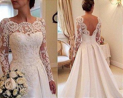 Vestido de noiva Lace Sexy