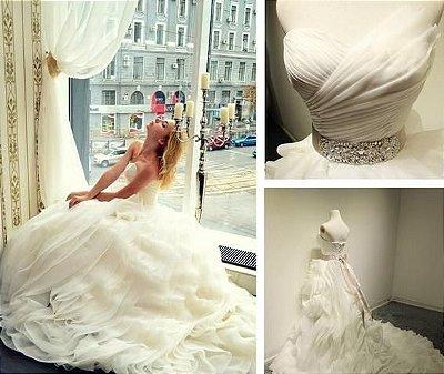Vestido de Noiva Romantic Organza