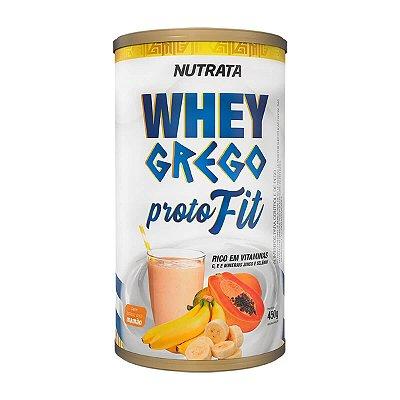 Whey Grego Proto Fit - 450g Banana com Mamão - Nutrata