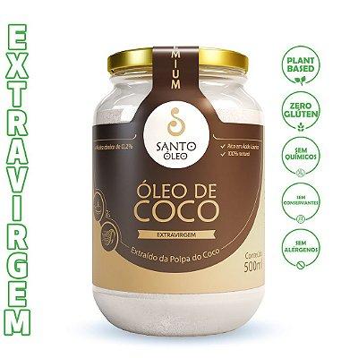 Óleo de Coco Extravirgem da Polpa (500ml) - Santo Óleo