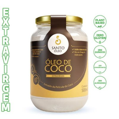 Óleo de Coco Extravirgem de Película (500ml) - Santo Óleo