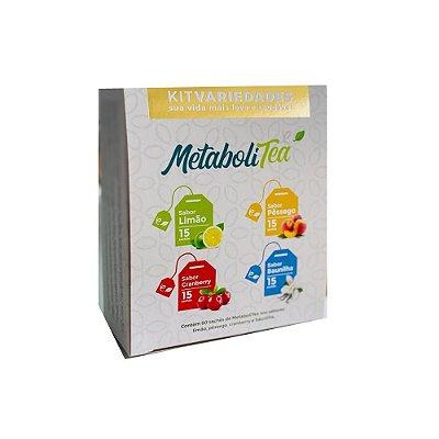 Chá Metabolitea Kit Variedades - (60 sachês) - Leve Chá