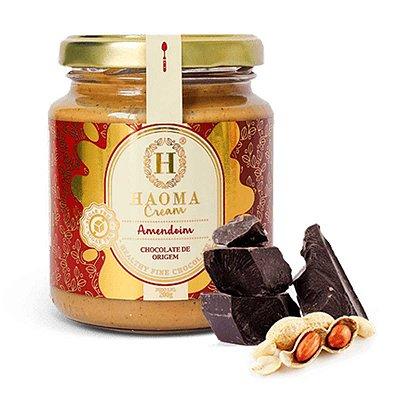 Cream c/ Whey Protein isolado + colágeno hidrolisado - sabor Amendoim ZERO açúcar (200g) -  HAOMA