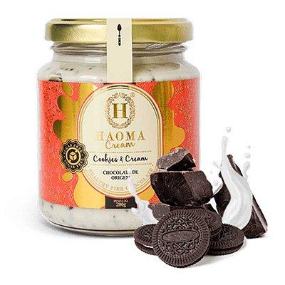 Cream c/ Whey Protein isolado + colágeno hidrolisado - sabor Cookies & Cream ZERO açúcar (200g) - HAOMA