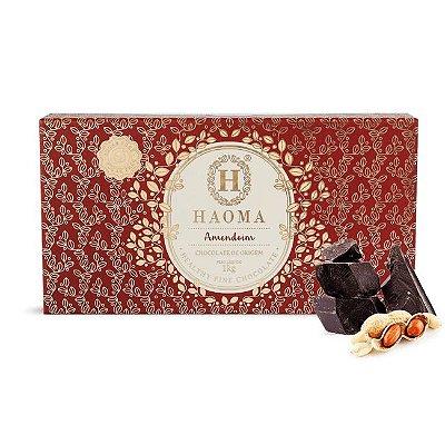 Barra de chocolate ZERO açúcar sabor Amendoim (1kg) - HAOMA