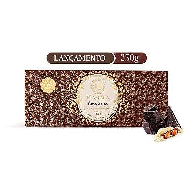 Barra de chocolate ZERO açúcar sabor Amendoim  (250g) - HAOMA