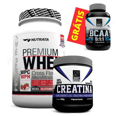 c39dc6464 Whey Protein 5W (2Kg) + CREATINA (150g) GRÁTIS - Muscle Nutritions - Barato  Suplementos