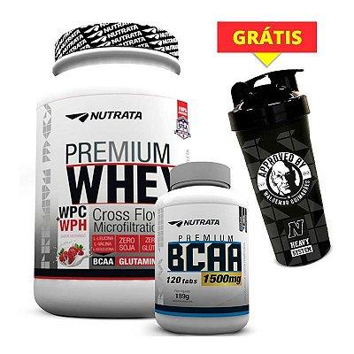 COMBO Premium Whey + BCAA 1.5g (COQUETELEIRA GRÁTIS)
