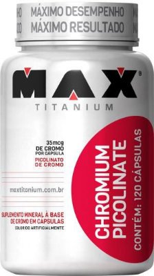 Picolinato de Cromo (120 Caps) Max Titanium