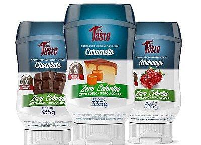 Kit 3 Caldas ZERO - Chocolate, Caramelo e Morango- Mrs Taste