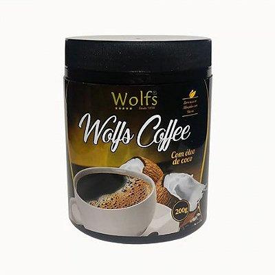 Café Termogênico com Oléo de Coco (200g) - Wolfs