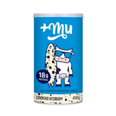 Whey Cookies N' Cream (450g)  + Mu