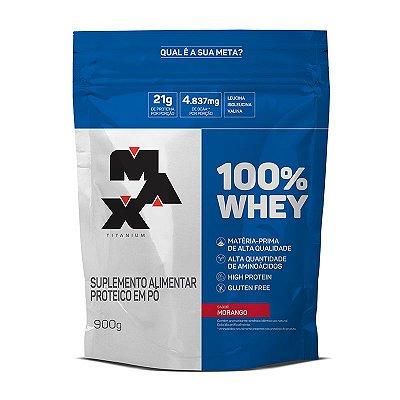 100% Whey REFIL (900g) Max Titanium
