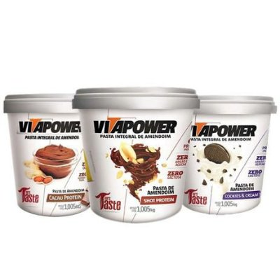 Kit 3  Pastas de Amendoim (1kg cada) - Vitapower