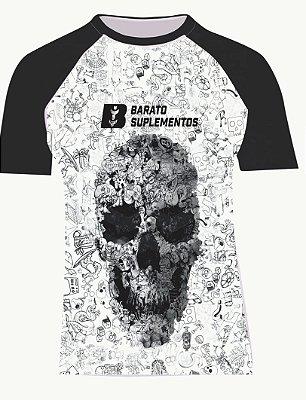 Camisa Estampa Caveira - Barato Suplementos