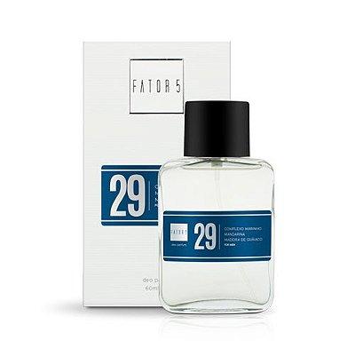 Perfume 29 - Complexo Marinho, Mandarina e Madeira de Guaiaco Referência olfativa de Invictus