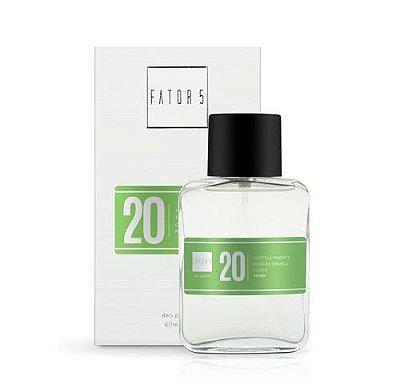 Perfume 20 - Hortelã Pimenta, Madeira Branca e Couro 60 ml Referência olfativa de 1 Million