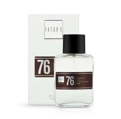 Perfume 76 - Bergamota, Canela e Madeira de Cedro 60 ml Referência olfativa de Ferrari Black