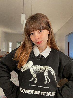 Moletom Triceratops  - Preto (UNISSEX)