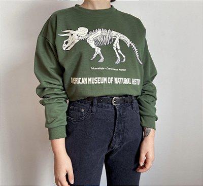 Moletom Triceratops- Verde Militar (UNISSEX)
