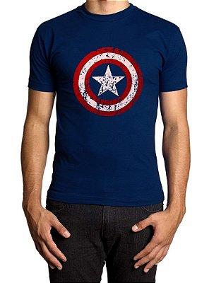 Camiseta Capitão América Premium Marinho