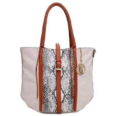 Bolsa de Ombro Estampa Cobra - OFF WHITE