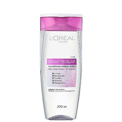 Água Micelar L'Oréal Paris Solução de Limpeza 5 em 1 - Demaquilante 200ml