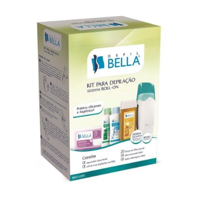 Depil Bella Kit Completo para Depilação Sistema Roll-On